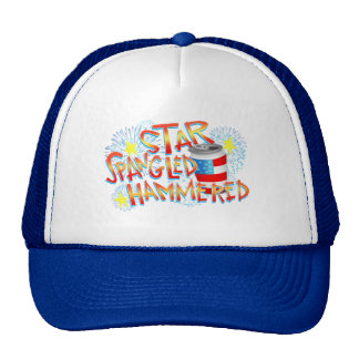 Star Spangled Hammered 4th of July Cap