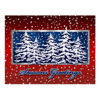 Star Spangled Seasons Greetings Postcard