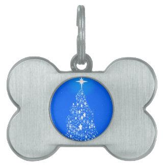 Star Spangled Snowflake Christmas Tree Pet Name Tag