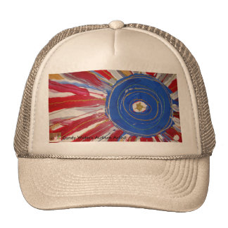 Star-Spangled Sun by Candy Waters Autism Artist Trucker Hat