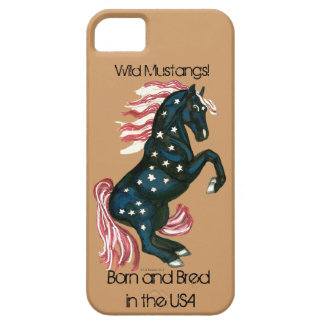 Star Spangled Wild Mustang Horse - IPhone Case Barely There iPhone 5 Case