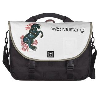 Star Spangled Wild Mustang Horse - Laptop Bag
