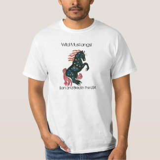 Star Spangled Wild Mustang Horse T-Shirt