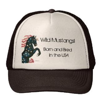 Star Spangled Wild Mustang Horse - Trucker Hat