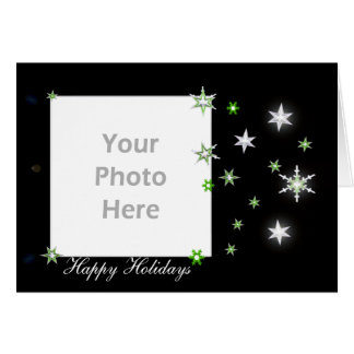 Star Sparkle Holiday Black (photo frame) Card
