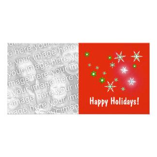 Star Sparkle Holidays Custom Photo Card