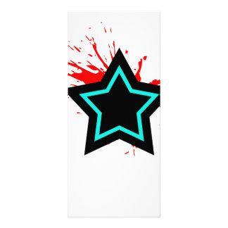 Star Splatter Full Color Rack Card