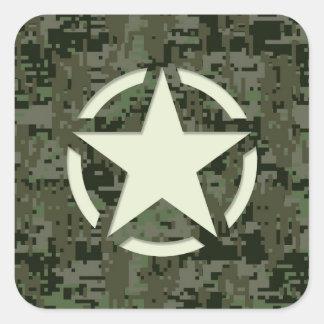 Star Stencil Digital Woodland Square Sticker