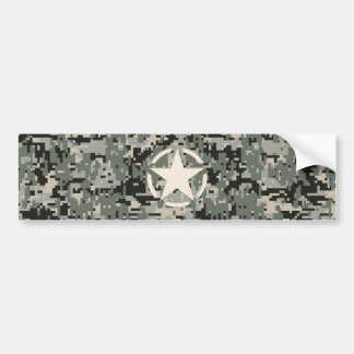 Star Stencil on Digital Camouflage Bumper Sticker