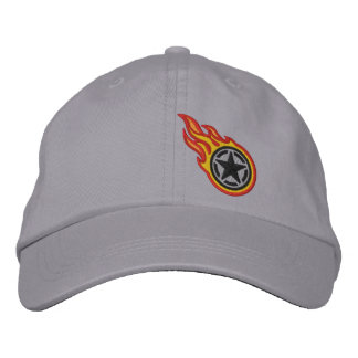 Star Stencil Retro Racing Flames Bullet Embroidery Embroidered Hat
