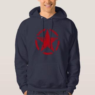 Star Stencil Vintage Grunge Style Hooded Sweatshirts