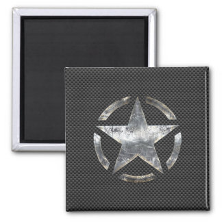 Star Stencil Vintage Jeep Decal Carbon Fiber Style Magnets
