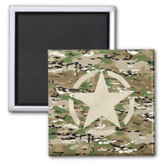 Star Stencil Vintage Jeep Decal on Camo Style Refrigerator Magnets