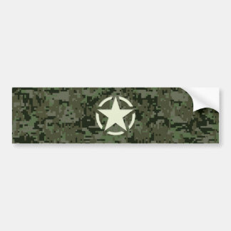 Star Stencil Vintage Symbol Digital Camouflage Bumper Sticker
