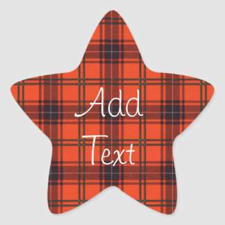 Star stickers sheet - Wemyss tartan - Add text