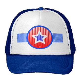 Star Stripe Red White Blue Patriot Hat