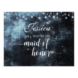 Star Struck Celestial Will You Be My Maid of Honor Card