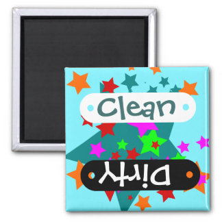 Star Struck Fun Stars Teal Red Pink Lime Orange Fridge Magnet