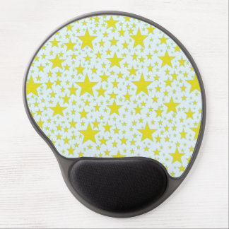 Star Studded Gold Gel Mousepad