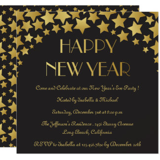 Star Studded New Years Eve Party Invitation
