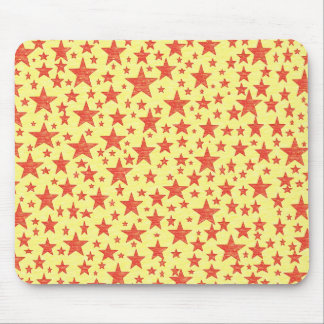 Star Studded Red Mousepad