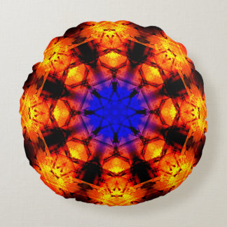Star Supernova Mandala Round Cushion