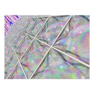 Star Tetra Bubble Grid Poster