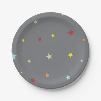 Star Themed Party Plates-Baby Shower 7 Inch Paper Plate