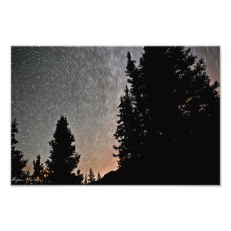 Star Trails in Colorado - photo print