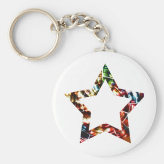 Star V5 - Sparkling Red Cosmic series Basic Round Button Key Ring