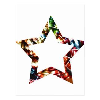 Star V5 - Sparkling Red Cosmic series Postcard