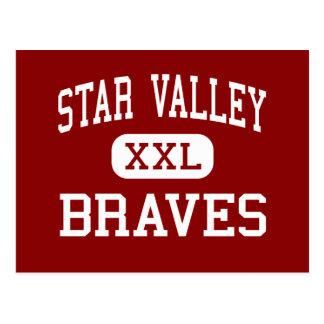 Star Valley - Braves - High School - Afton Wyoming Postcard