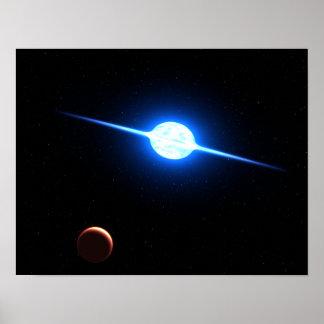 Star VFTS 102 NASA Space Art Posters