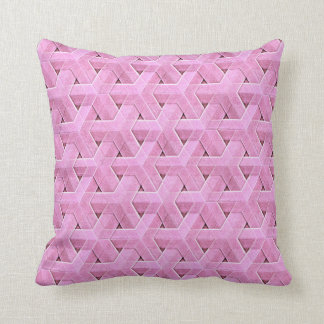 Star Weave in pink Cushion