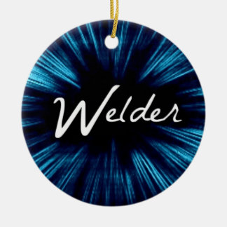 Star Welder Ceramic Ornament