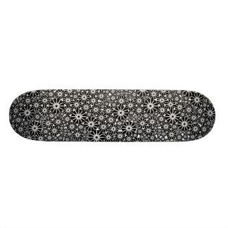 Star Wheel Abstract - Black on Wood Skate Deck