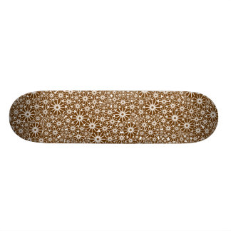 Star Wheel Abstract - Walnut on Wood 21.3 Cm Mini Skateboard Deck