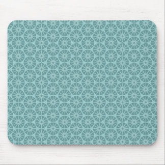 Star Wheel Pattern - Shades of Blue Green Mouse Pad