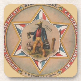 Star Whiskey Distilled and warranted pure Drink Coaster