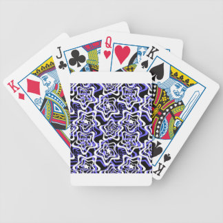 Star white ,blue,black 2 bicycle playing cards