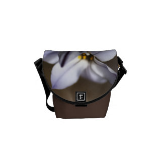 Star White Flowers - Bag Courier Bag