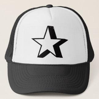 Star with Heavy Drop Shadow Trucker Hat