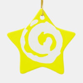 Star With Koru Symbol Ceramic Ornament
