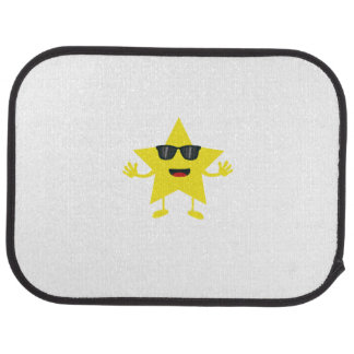 star with sunglasses floor mat