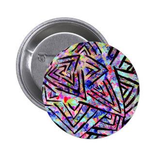 Starburst 6 Cm Round Badge