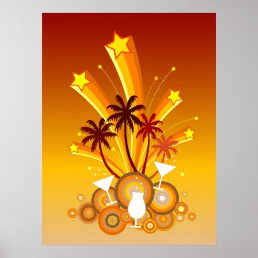Starburst Beach Party Print
