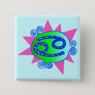 Starburst Cancer 15 Cm Square Badge