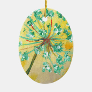 starburst ceramic oval decoration