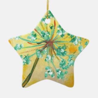 starburst ceramic star decoration