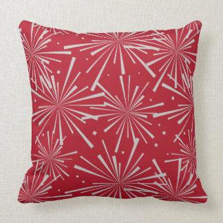 Starburst Crimson Red Cushion